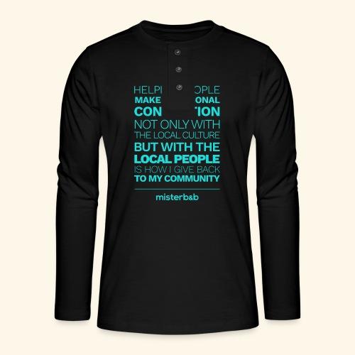 misterb&b - T-shirt manches longues Henley