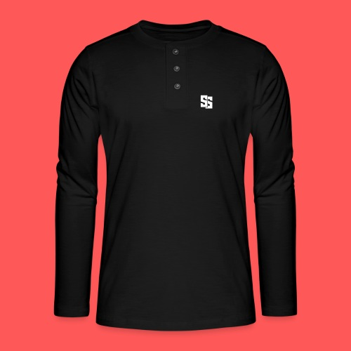 Black clothes - Henley long-sleeved shirt