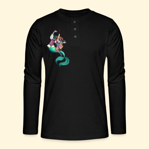 La sirène et la danseuse - T-shirt manches longues Henley