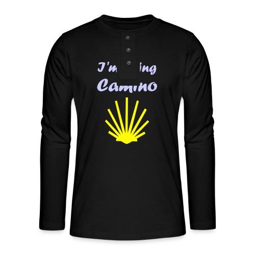 Going Camino - Henley T-shirt med lange ærmer