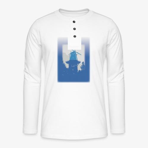 Mills blue - Maglia a manica lunga Henley