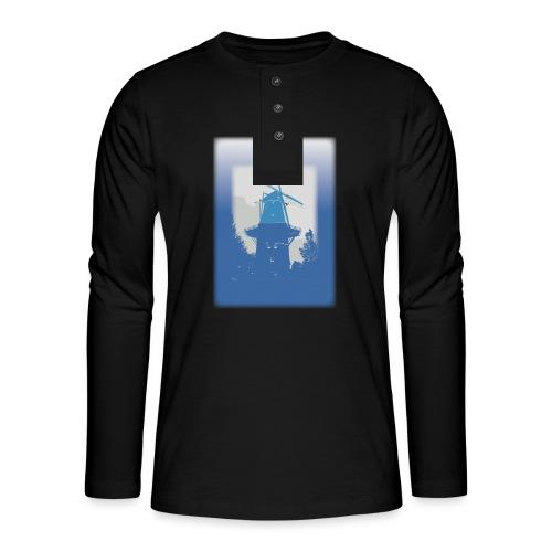 Mills blue - Henley long-sleeved shirt