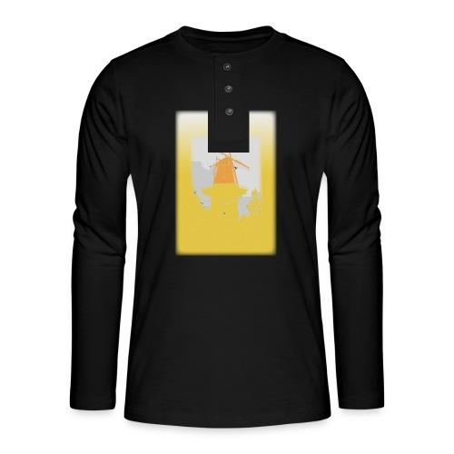 Mills yellow - Koszulka henley z długim rękawem