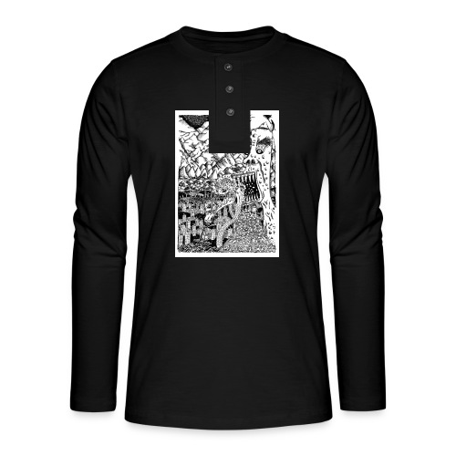 Sea Monsters T-Shirt by Backhouse - Henley long-sleeved shirt