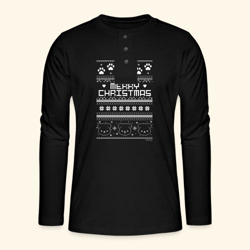 Merry Christmas - Henley Langarmshirt