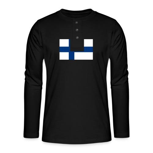 800pxflag of finlandsvg - Henley pitkähihainen paita