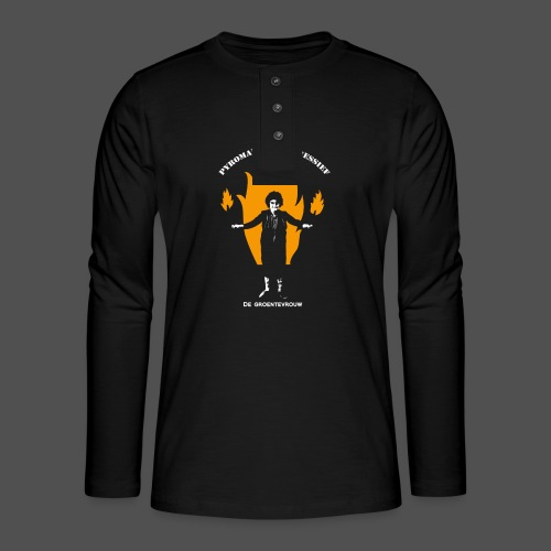 Pyromanisch Depressief (v) - Henley shirt met lange mouwen
