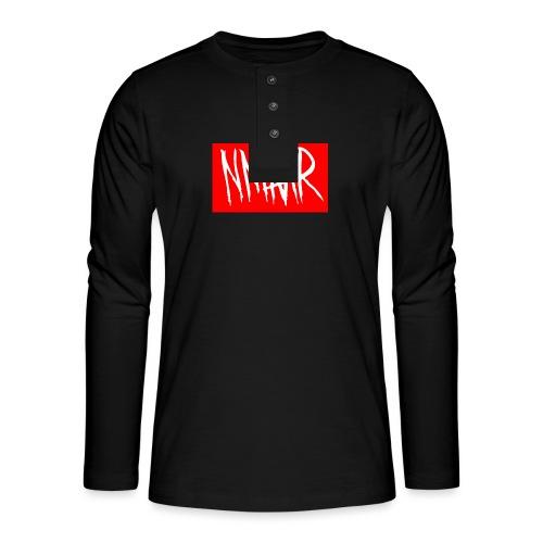 Logo Shirt - Henley T-shirt med lange ærmer