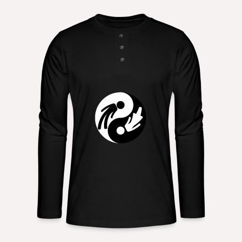 Yin Yang Male Female Symbol Duality Print - Henley long-sleeved shirt