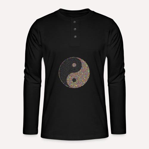 yin yang sign - Henley long-sleeved shirt