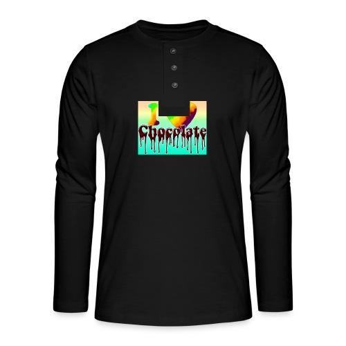 ILOVCHOCO2 copie - T-shirt manches longues Henley