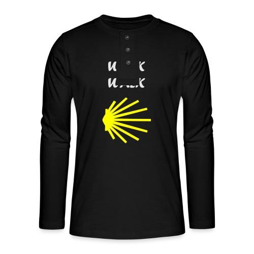 Walk the Walk - Camino de Santiago - Henley T-shirt med lange ærmer
