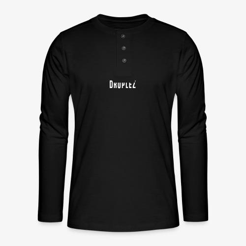 druplez design - Henley shirt met lange mouwen