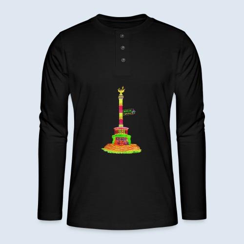 Siegessäule Berlin PopArt ickeshop BachBilder - Henley Langarmshirt