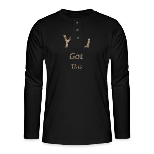 Vous avez obtenu ce - T-shirt manches longues Henley