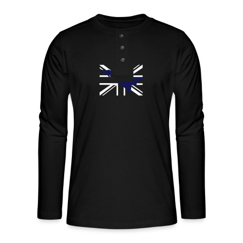 ukflagsmlWhite - Henley long-sleeved shirt