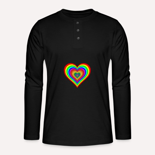 Heart In Hearts Print Design on T-shirt Apparel - Henley long-sleeved shirt