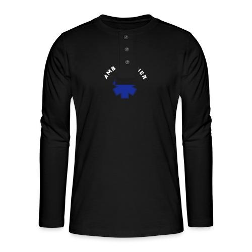 ambulancier logo - T-shirt manches longues Henley