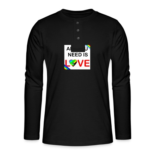 all you need is peace and love - T-shirt manches longues Henley