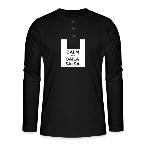 keep-calm-and-baila-salsa-41 - Maglia a manica lunga Henley