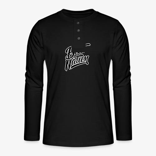 Logo Officiel Beat Nation Noir - Henley Langarmshirt