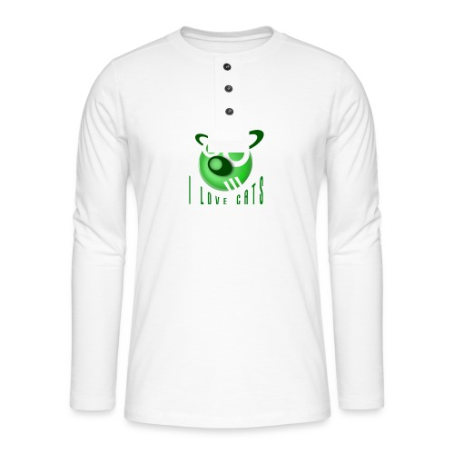 I Love Cats - Henley long-sleeved shirt