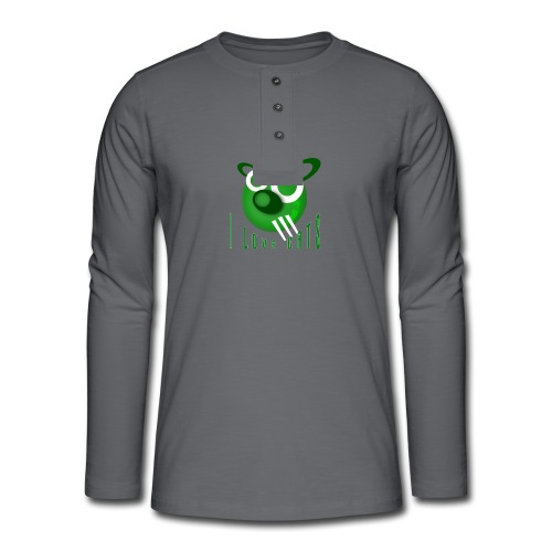 I Love Cats - Henley long-sleeved shirt