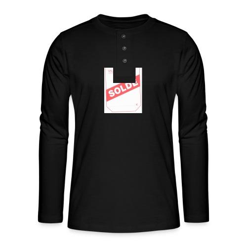 soldé - T-shirt manches longues Henley