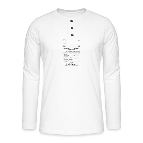 Beautiful Black Woman - Henley long-sleeved shirt