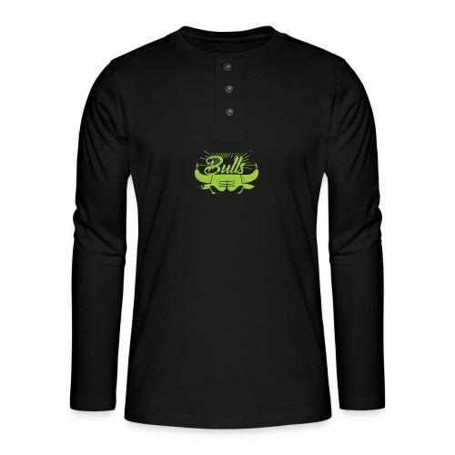 Toros verdes, Bulls BasketBall deporte - Camiseta panadera de manga larga Henley