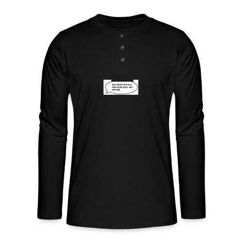 deine-mutter-witze-0 - Henley long-sleeved shirt