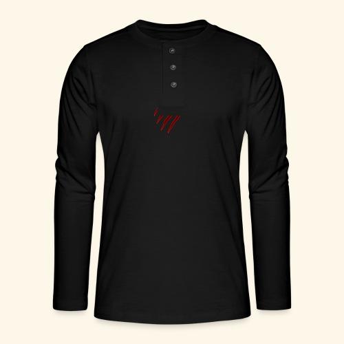 garras - Camiseta panadera de manga larga Henley