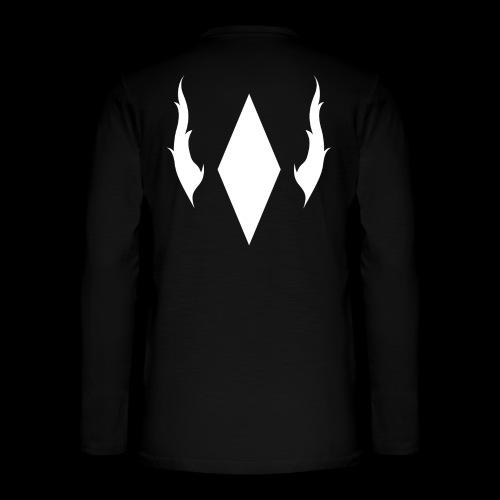 Crystal With Wings WGDK Hvid - Henley T-shirt med lange ærmer