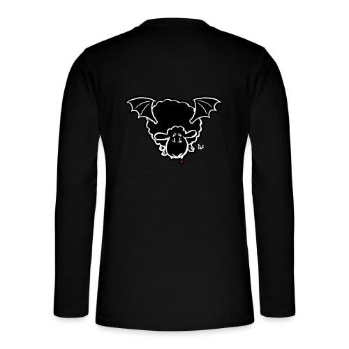 Vampire Sheep (white) - Henley T-shirt med lange ærmer
