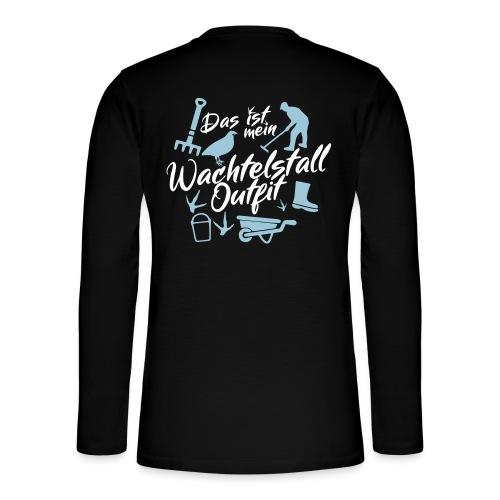 Wachtelstall-Outfit / Wachteln Geschenkidee Design - Henley Langarmshirt