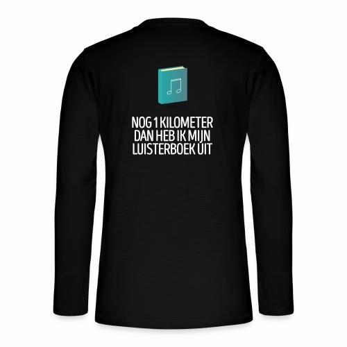 Nog 1 kilometer - luisterboek - fun shirt - Henley shirt met lange mouwen