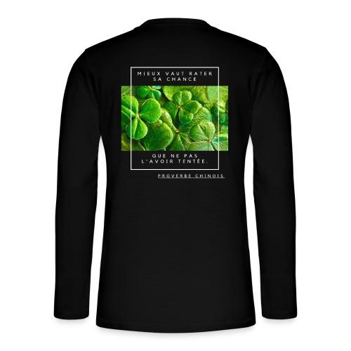 Un Proverbe Chinois, une citation de motivation. - T-shirt manches longues Henley
