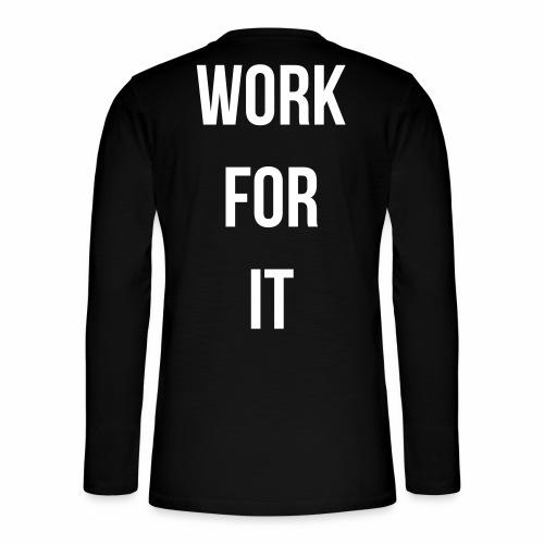 work for it - Henley shirt met lange mouwen
