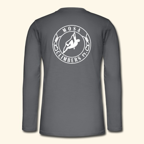 Mosa Climbers white - Henley pitkähihainen paita