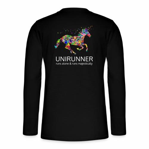 unirunner - alleen voor magische hardloopfans - Henley shirt met lange mouwen