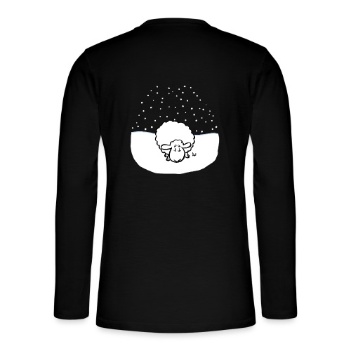 Snowy Sheep - Henley langermet T-skjorte