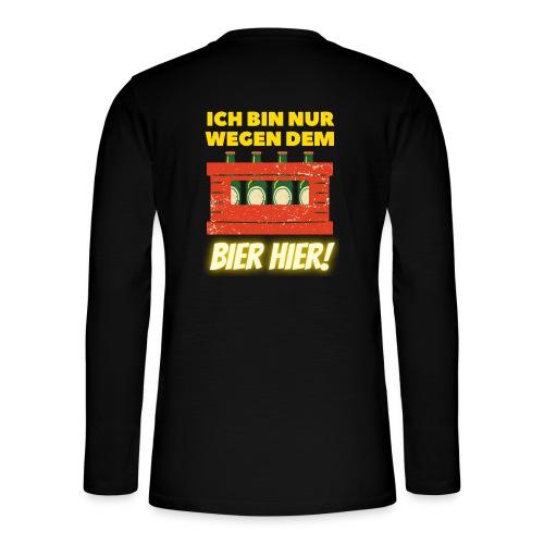 Ich Bin Nur Wegen Dem Bier Biertinker Trinkspruch - Henley Langarmshirt