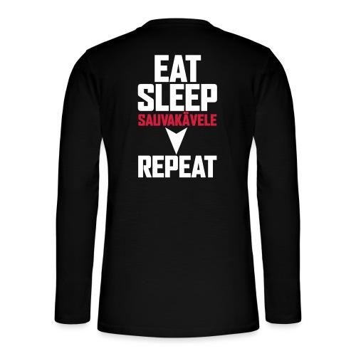Eat, sleep, sauvakävele, repeat - Henley pitkähihainen paita