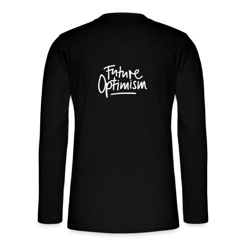 Future Optimism White - Henley Langarmshirt