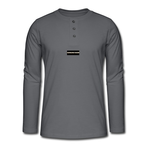 Concentrate on black - Henley long-sleeved shirt