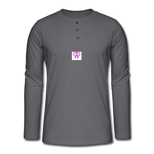 lesbian logo - T-shirt manches longues Henley