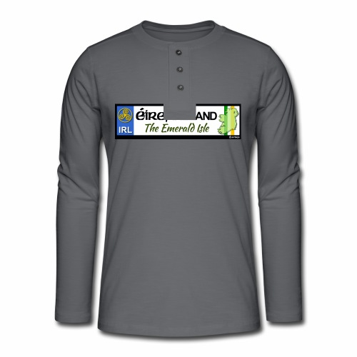 EIRE IRELAND IRL, The Emerald Isle, licence tag EU - Henley long-sleeved shirt