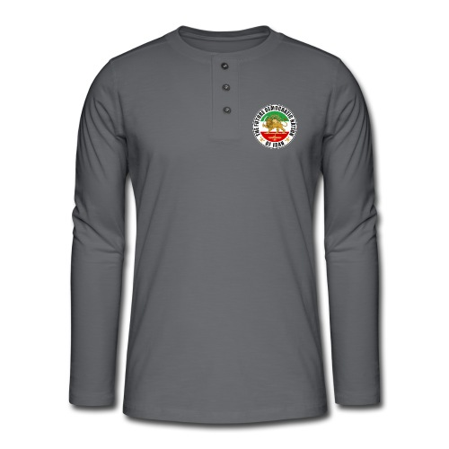 Iran Emblem Old Flag With Lion - Henley long-sleeved shirt