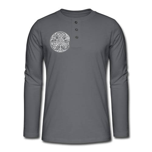 Old Celtic Birds Ornament Mandala 2 - Henley Langarmshirt