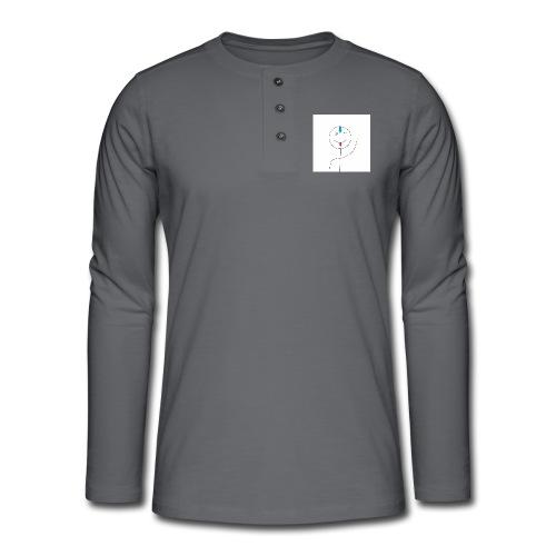 avatar stick man cover 6/6s - Henley T-shirt med lange ærmer